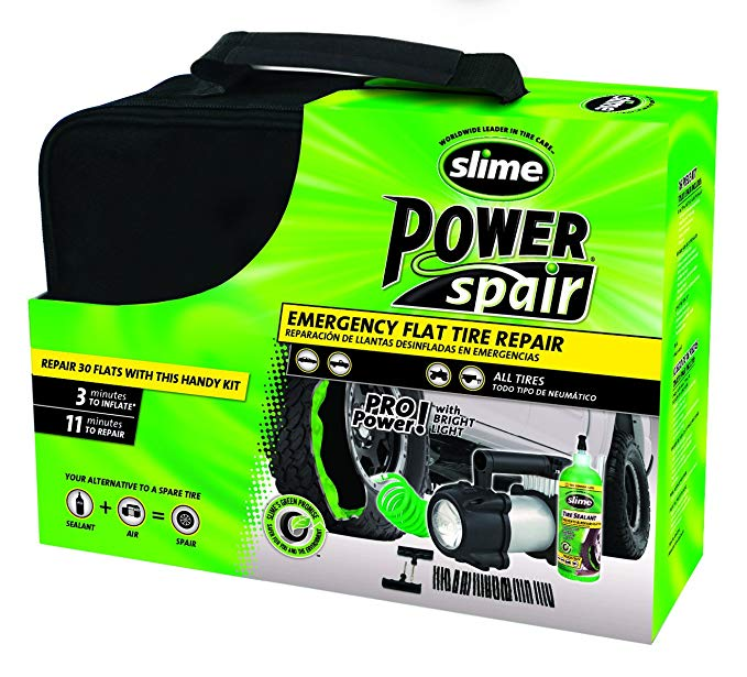 Slime 70004 Power Spair Tire Repair Kit (48-Piece Set)