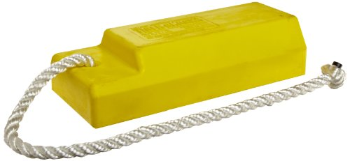 Tigerchocks AC3512-S Urethane Lightweight Commercial Aviation Wheel Chock, Yellow, 12