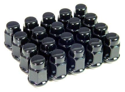 Set of 20 Black Lug Nuts