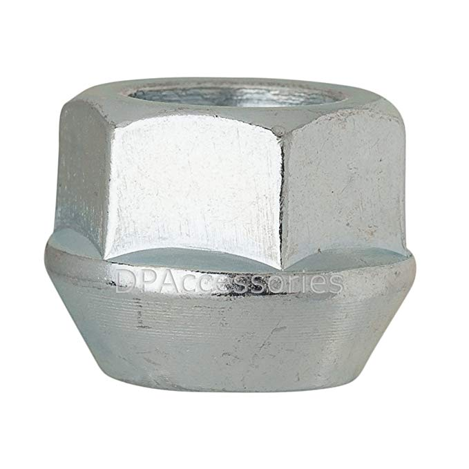 DPAccessories D2228-2308/100 100 Silver 14x1.5 Open End Bulge Acorn Lug Nuts - Cone Seat - 22mm Hex Wheel Lug Nut