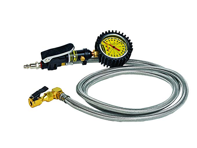 Power Tank TIG-8176 Tire Inflator with Clip On Chuck and 6' Whip