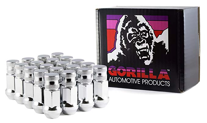 Gorilla Automotive 45138-20 12mm x 1.50 Thread Size Forged Steel Chrome Finish Closed End Lug Nut, (Pack of 20)